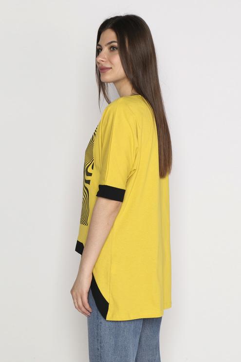 """Футболка """"Иллюзия"""", желтый"""