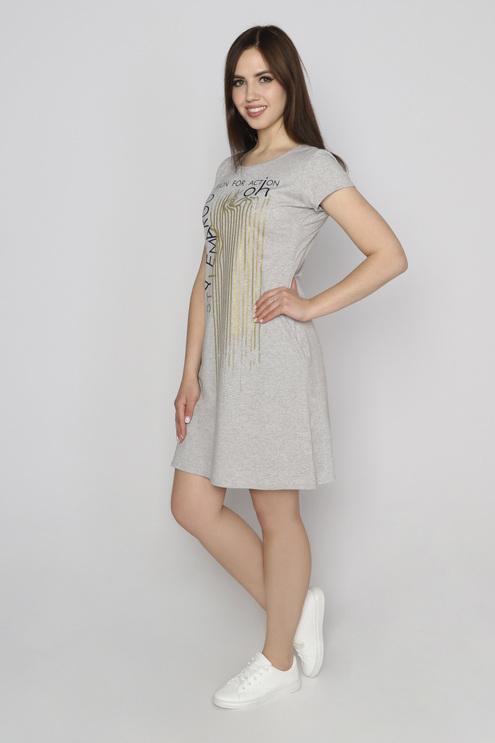 "Платье ""Азарт"", серый меланж"