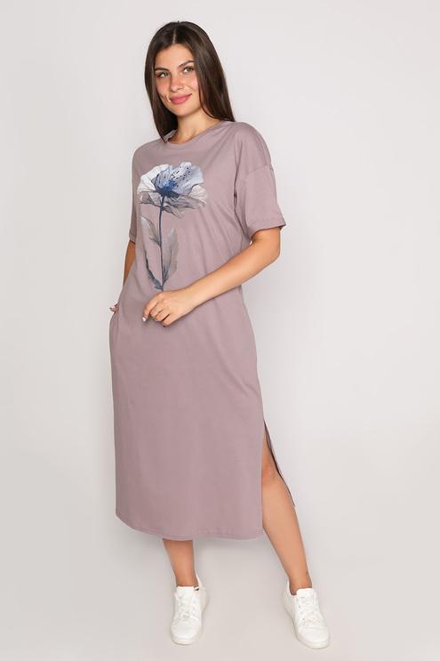 """Платье """"Naturel"""", какао"""