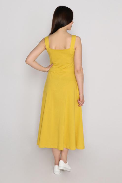 """Платье """"Подсолнух"""", горчица"""