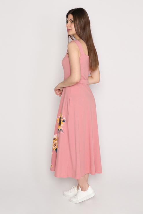 """Платье """"Подсолнух"""", пудровый"""