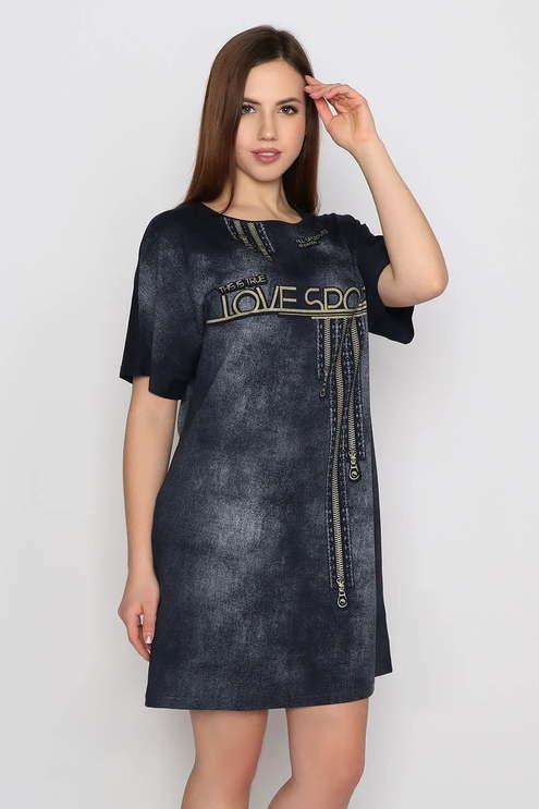 """Платье """"Спорт"""", темно-синий"""