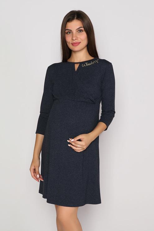 "Платье ""Венера"", темно-синий меланж"