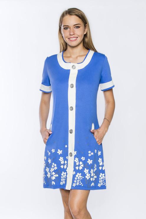 Халат Купон кулирка, голубой